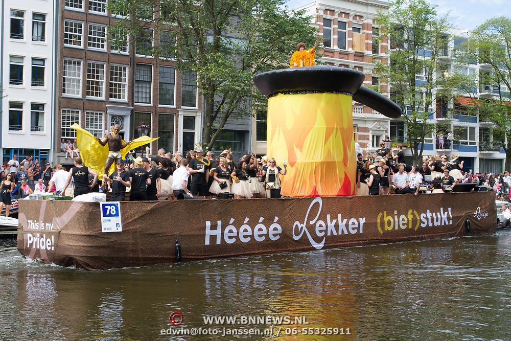 NLD/Amsterdam//20170805 - Gay Pride 2017, Boot Loetje