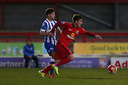 Jack Doyle during the Barclays U21 Premier League match between U21 Brighton and Hove Albion and U21 Blackburn Rovers at the Checkatrade.com Stadium, Crawley, England on 4 April 2016.