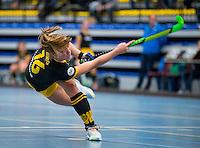 BARNEVELD - Hoofdklasse zaalhockey dames. Den Bosch-Rotterdam (1-0).  Joosje Burg (Den Bosch) COPYRIGHT KOEN SUYK