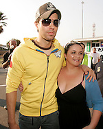 Enrique Iglesias at his arrival at laseria aiport post with Jessica Levitt.08 September 2010,.Lasaria Aiport, Johannesburg, South Africa,.Photo by :Abbey Sebetha/SPORTZPICS/CLT20