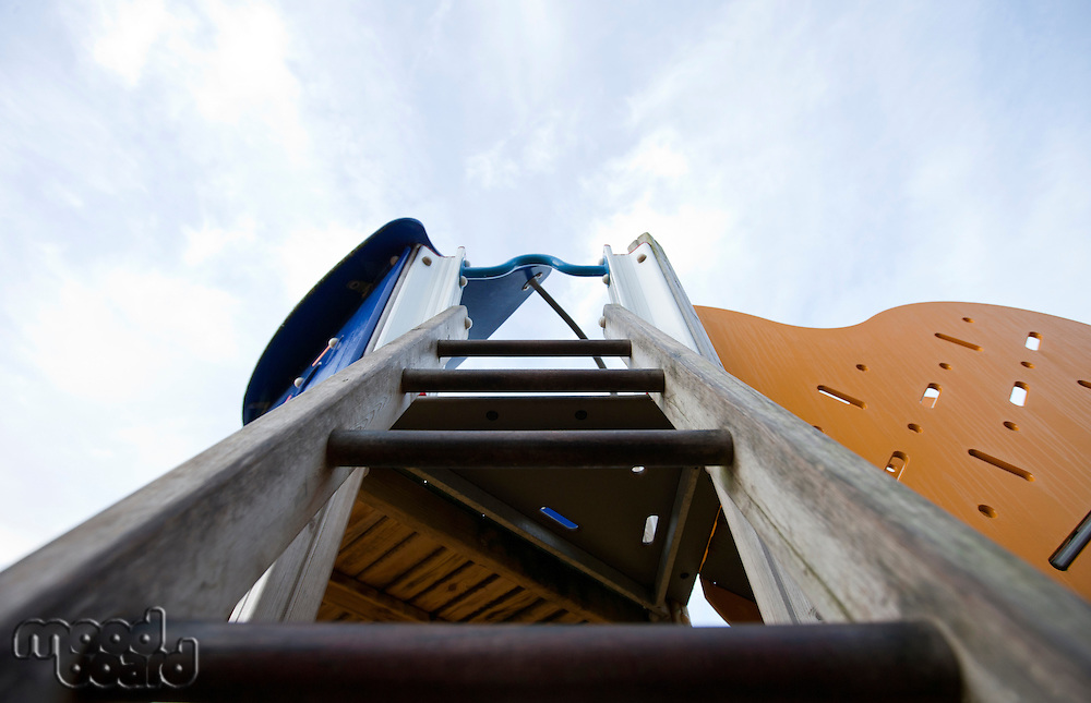 View up a ladder in a children's playground