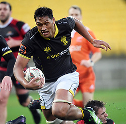 Wellington's Sam Lousi against Canterbury in the Mitre 10 Rugby match at Westpac Stadium, Wellington, New Zealand, Sunday September 17,, 2017. Credit:SNPA / Ross Setford  **NO ARCHIVING**