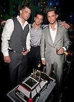 NEW YORK, NY - APRIL 13:  Frank Gotti Agnello; John Gotti Agnello and Carmine Agnello Jr. attend Frank Gotti's birthday celebration at Greenhouse on April 13, 2011 in New York City.  (Photo by Dave Kotinsky/Getty Images)