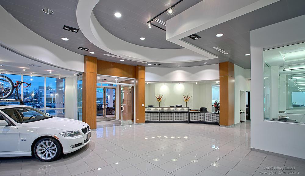 Architectural Interior of Rockville Car Dealership VOB BMW
