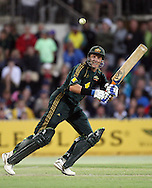 Australian batsman Michael Hussey in action during the 4th one day international cricket match, New Zealand Black Caps v Australia, Chappell Hadlee Series at the Adelaide Oval, Australia, 10 February 2009. Australia won the match by 6 wickets to level the 5 match series 2-2 heading to the Gabba on Friday..Photo: Andrew Cornaga/PHOTOSPORT