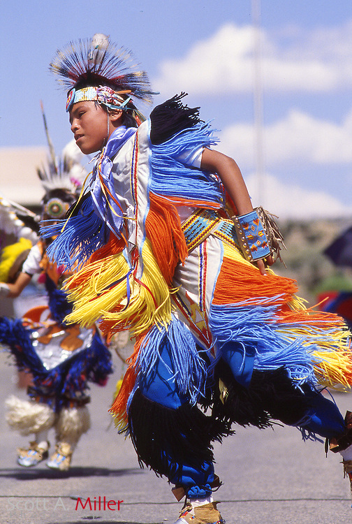 Gallup, N.M..; 1992 --- Traditionally dressed Native Americans during the Intertribal ceremonial in Gallup, N.M. The cermonial has been going on since 1922...More than 100 Native American tribes from across the country will take part in the Intertribal Ceremonial at Red Rock State Park...Activities will include music, storytelling, rodeo, ceremonial dances, traditional arts and crafts and Native American food. ..Photo by Scott A. Miller