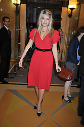HOLLY WILLOUGHBY at the opeing of Green's Restaurant & Oyster Bar, 14 Cornhill, London EC3 on 1st September 2009.