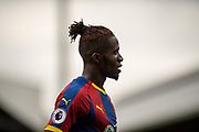 Wilfried Zaha (11) of Crystal Palace during the Premier League match between Fulham and Crystal Palace at Craven Cottage, London, England on 11 August 2018.