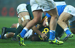 November 25, 2017 - Padova, Italy - Francois Louw of South Africa in action during the Rugby test match between Italy and South Africa at Plebiscito Stadium in Padova, Italy on November 25, 2017. (Credit Image: © Matteo Ciambelli/NurPhoto via ZUMA Press)