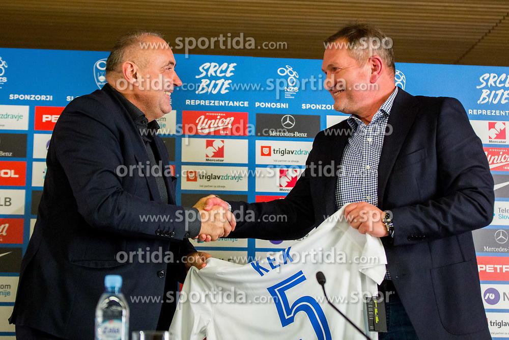Matjaz Kek, new head coach of National team Slovenia and Radenko Mijatovic during Press conference of new head coach of Team Slovenia, on November 27, 2018 in National Football Centre, Brdo pri Kranju, Slovenia. Photo by Ziga Zupan / Sportida