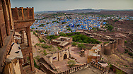 View of Jodhpur Blue City from Jodphur Fort, India