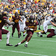 ORLANDO, FL - JANUARY 01:  Briean Boddy-Calhoun #29 of the Minnesota Golden Gophers returns an interception during the Buffalo Wild Wings Citrus Bowl against the Missouri Tigers at the Florida Citrus Bowl on January 1, 2015 in Orlando, Florida. (Photo by Alex Menendez/Getty Images) *** Local Caption *** Briean Boddy-Calhoun
