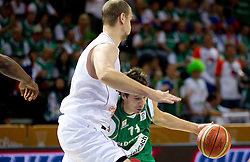 Goran Dragic of Slovenia during basketball match between National teams of Belgium and Slovenia in Group D of Preliminary Round of Eurobasket Lithuania 2011, on September 4, 2011, in Arena Svyturio, Klaipeda, Lithuania.  (Photo by Vid Ponikvar / Sportida)