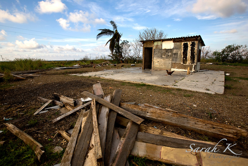 A home near Pinar del Rio, Cuba, was partially pieced back together after being destroyed by both Hurricane Ike and Hurricane Gustav.