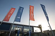 Rafa Nadal Academy in Manacor, Mallorca,Flaggen im Eingangsbereich<br /> <br />  - Rafa Nadal Academy -  -  Rafa Nadal Academy - Manacor - Mallorca - Spanien  - 24 October 2016. <br /> &copy; Juergen Hasenkopf