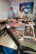 A spada (swordfish).