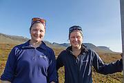 Solveig Græsli (t.v.) og Marit Østby Nilsen, naturforvaltere i Fjelldriv AS. Arbeidsplassen er  høyfjellet i Sylan i Sør-Trøndelag. Sylan er vernet som landskapsvernområde og er grensefjell mot Jämtland i Sverige.