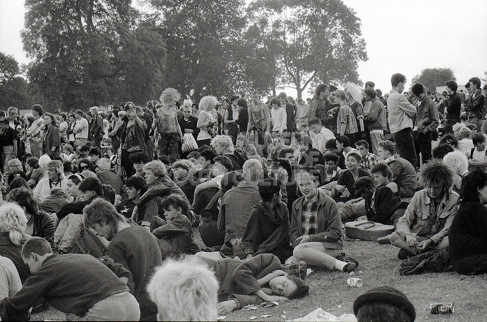 Crowd at the GLC Free Festival, Brockwell Park, Brixton, London, UK, August 1984.