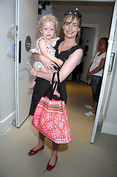 CLEMENTINE FRASER and her daughter RUBY at a party to celebrate the 21st birthday of the children's charity Starlight held at Maggie & Rose, 58 Pembroke Road, London W8 on 12th May 2008.<br />