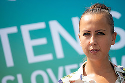 Nina Spremo (organizer of Tennis Fest) at press conference of ATP Challenger Zavarovalnica Sava Slovenia Open 2018, on August 6, 2018 in Sports centre, Portoroz/Portorose, Slovenia. Photo by Urban Urbanc / Sportida