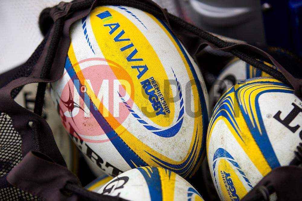 Premiership Rugby balls - Rogan Thomson/JMP - 26/02/2017 - RUGBY UNION - Ashton Gate Stadium - Bristol, England - Bristol Rugby v Bath - Aviva Premiership.