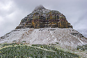 Clements Mountain at Logan Pass in Glacier National Parkin Montana During Winter