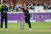 Sam Curran of Surrey bowling during the Royal London One Day Cup match between Warwickshire County Cricket Club and Surrey County Cricket Club at Lord's Cricket Ground, St John's Wood, United Kingdom on 17 September 2016. Photo by David Vokes.