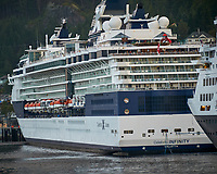 Celebrity Infinity Cruise Ship in Ketchikan. Image taken with a Nikon D300 camera and 70-300 mm VR lens.