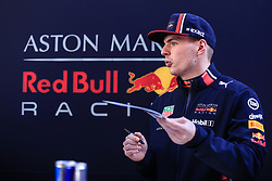 February 18, 2019 - Montmelo, BARCELONA, Spain - Max Verstappen from Nederland with 33 Aston Martin Red Bull Racing - Honda RB15 portrait during the Formula 1 2019 Pre-Season Tests at Circuit de Barcelona - Catalunya in Montmelo, Spain on February 18. (Credit Image: © AFP7 via ZUMA Wire)