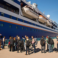 Embarkation day for Semester at Sea Spring 2014 Voyage, January 10th 2014, in Ensenada, Mexico.