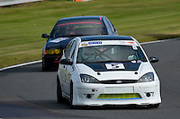 #5 M Petch / H Petch Ford Focus 2000 during the CSCC Tin Tops at Oulton Park, Little Budworth, Cheshire, United Kingdom. October 15 2016. World Copyright Peter Taylor/PSP. <br /> Copy of publication required for printed pictures.  Every used picture is fee-liable. http://archive.petertaylor-photographic.co.uk