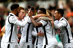 Darren Bent of Derby County celebrates with teammates after scoring a goal to make it 2-0 - Mandatory by-line: Robbie Stephenson/JMP - 05/11/2016 - FOOTBALL - Molineux - Wolverhampton, England - Wolverhampton Wanderers v Derby County - Sky Bet Championship