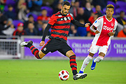Flamengo defender Rhodolfo (44) in action during a Florida Cup match against Ajax Amsterdam at Orlando City Stadium on Jan. 10, 2019 in Orlando, Florida. <br /> Flamengo won in penalties 4-3.<br /> <br /> ©2019 Scott A. Miller