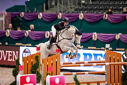 LÜNEBURG Jule (GER), Calle Blomquist<br /> Leipzig - Partner Pferd 2019<br /> Equiline Youngster Cup<br /> 1. Qualifikation Youngster Tour für 7 und 8 jährige Pferde<br /> 17. Januar 2019<br /> © www.sportfotos-lafrentz.de/Stefan Lafrentz