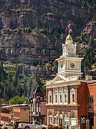 Ouray, Colorado, Walsh Library, historic mining town,
