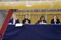 Judges during Qualifications day of Artistic Gymnastics World Cup Ljubljana, on April 26, 2013, in Hala Tivoli, Ljubljana, Slovenia. (Photo By Vid Ponikvar / Sportida.com)