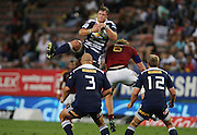 Duane Vermeulen catches the ball in mid-air during the Super Rugby (Super 15) fixture between the DHL Stormers and the Highlanders held at DHL Newlands Stadium in Cape Town, South Africa on 11 March 2011. Photo by Jacques Rossouw/SPORTZPICS