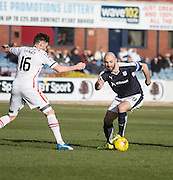 Dundee&rsquo;s Gary Harkins goes past Inverness&rsquo; Greg Tansey - Dundee v Inverness Caledonian Thistle - Ladbrokes Scottish Premiership at Dens Park<br /> <br />  - &copy; David Young - www.davidyoungphoto.co.uk - email: davidyoungphoto@gmail.com