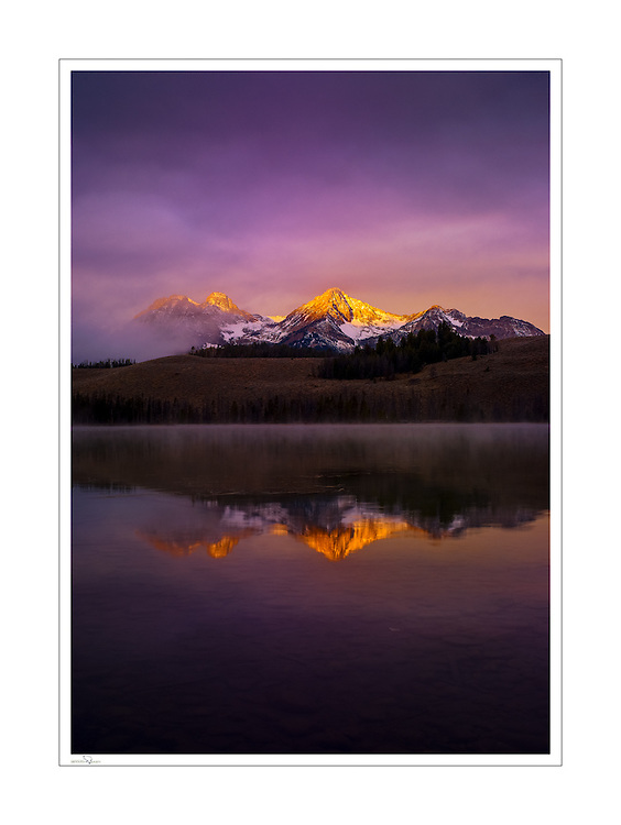 Fall Sunrise at Little Redfish Lake