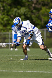 06 May 2007: Duke Blue Devils midfielder John Walsh (14) during a 19-6 victory over the Air Force Falcons at Koskinen Stadium in Durham, NC.