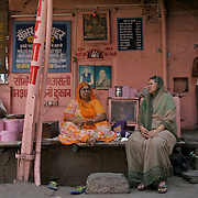 A sweet shop, A Mithan Bhandar,  in one of the gullies of the pink city in Jaipur, Rajasthan