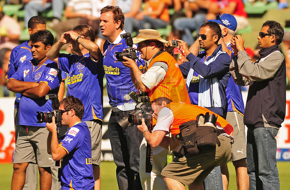 PORT ELIZABETH, SOUTH AFRICA - 2 May 2009.  Photographers during the  IPL Season 2 match between the Deccan chargers vs Rajasthan Royals held at St Georges Park in Port Elizabeth , South Africa.