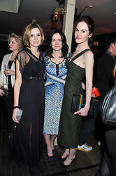 Left to right, LAURA CARMICHAEL, EILIDH MacASKILL editor of InStyle and MICHELLE DOCKERY at the InStyle Best of British Talent Event in association with Lancôme and Charles Worthington held at The Rooftop Restaurant, Shoreditch House, Ebor Street, E1 on 26th January 2012.