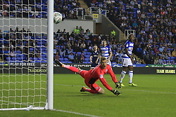 22 August 2017 -  EFL Cup Round Two - Reading v Millwall - Shane Ferguson of Millwall scores the equalising goal with a deflected shot - Photo: Marc Atkins/Offside