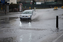 A night of heavy rain in London leaves part of Scrubbs Lane in Shepherd's Bush flooded. London, April 02 2018.