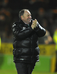 Yeovil Town Manager, Gary Johnson celebrates on the final whistle - Photo mandatory by-line: Joe Meredith/JMP - Tel: Mobile: 07966 386802 03/12/2013 - SPORT - Football - Yeovil - Huish Park - Yeovil Town v Blackpool - Sky Bet Championship