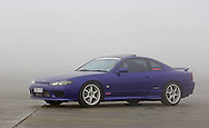 2001 Nissan S15 200SX - Brillant Blue.In the early morning fog and mist.DECA Facility Skid Pan.Sheparton, Victoria, Australia.27th of May 2006.Australian Delivered.(C) Joel Strickland Photographics.Use information: This image is intended for Editorial use only (e.g. news or commentary, print or electronic). Any commercial or promotional use requires additional clearance.