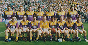All Ireland Senior Hurling Championship - Final,.01.09.1996, 09.01.1996, 1st September 1996,.01091996AISHCF, .Wexford v Limerick,.Wexford 1-13, Limerick 0-14,..Wexford Creamery, .Wexford, back row, Larry O'Gorman, Rod Guiney, Garry Laffan Adrian Fenlon, Larry Murphy, John O'Connor, Ger Cuch, .Front Row left to right, Liam Dunne, Eamonn Scallan, Martin Storey captain, Damien Fitzhenry, Sean Flood, Tom Dempsey, Colm Kehoe, Rory McCarthy, .