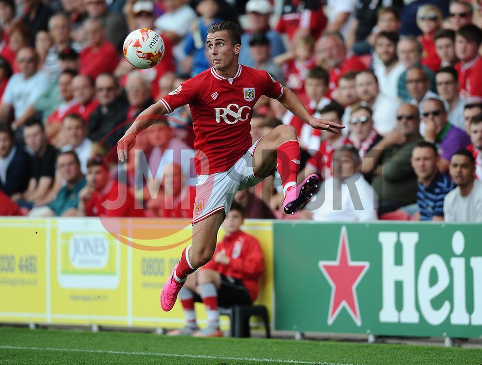 Joe Bryan of Bristol City  - Mandatory byline: Joe Meredith/JMP - 07966386802 - 15/08/2015 - FOOTBALL - Ashton Gate -Bristol,England - Bristol City v Brentford - Sky Bet Championship