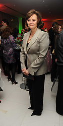 CHERIE BLAIR at the launch of the English National Ballet's Christmas season 2009 held at the St.Martin;s Lane Hotel, London on 15th December 2009.